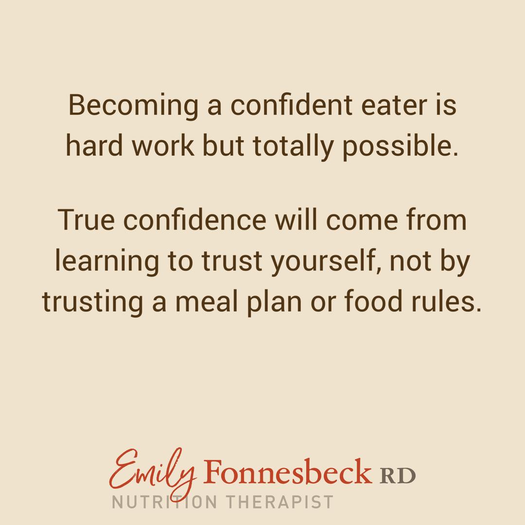 Confident Eater Checklist