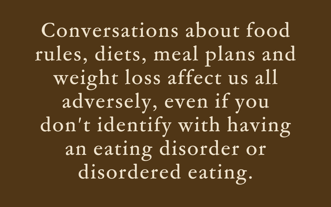 6 tips for handling diet and weight talk in eating disorder recovery