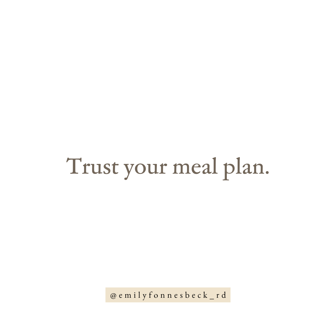 trust your meal plan