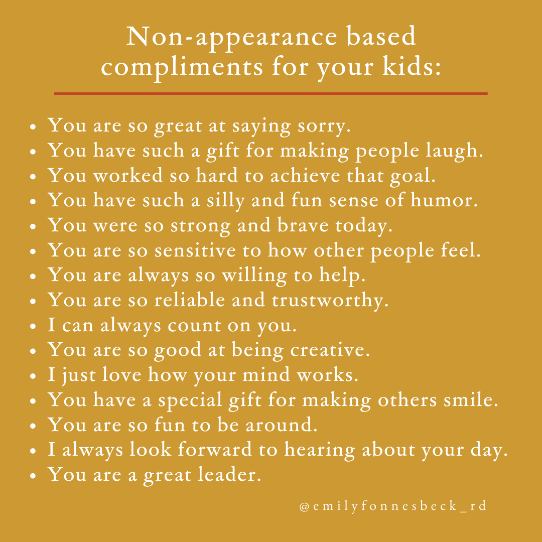 non-appearance based compliments