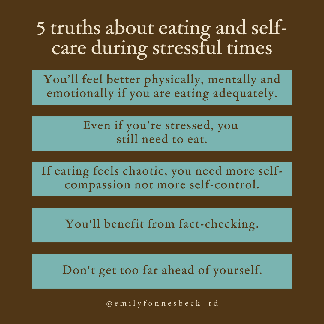 5 truths about eating and self-care