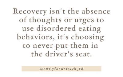 What is recovery? Putting yourself back in the driver's seat… and staying there.