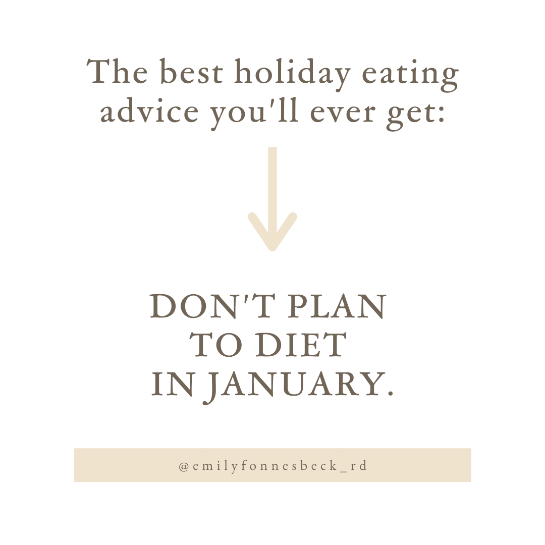 best holiday eating advice